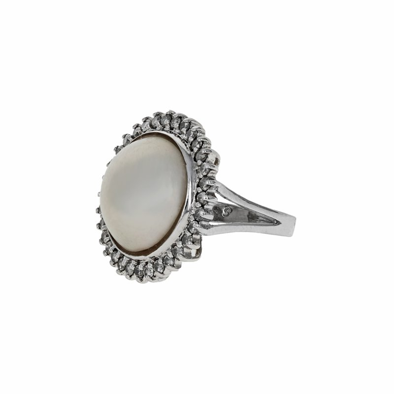 Estate Radcliffe Pearl & Diamond Halo Ring
