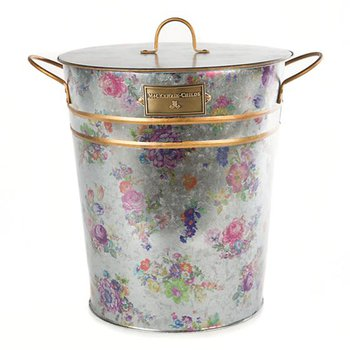 Flower Market Galvanzied Container with Scoop