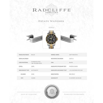 GMT Master II (Ref. 116713)