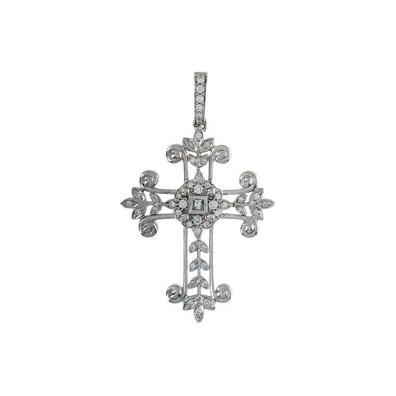 Estate Radcliffe Diamond Cross Pendant