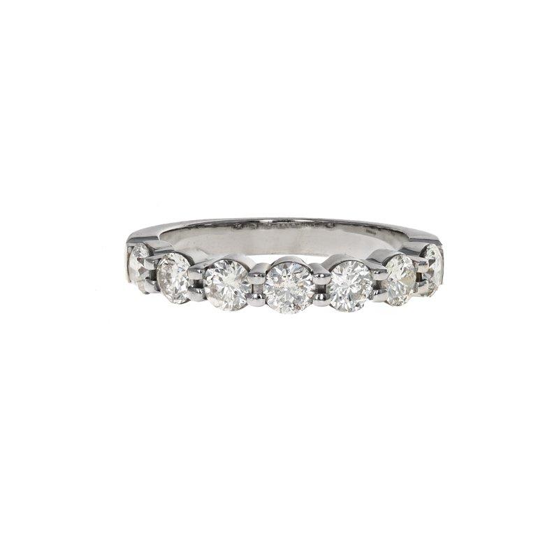 Estate Memoire Jewelry 7 Diamond Band