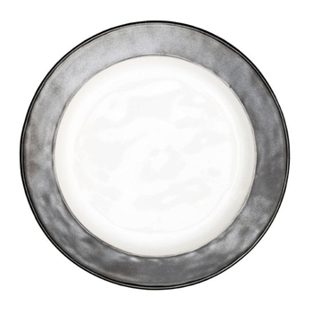 Emerson White & Pewter Dinner Plate