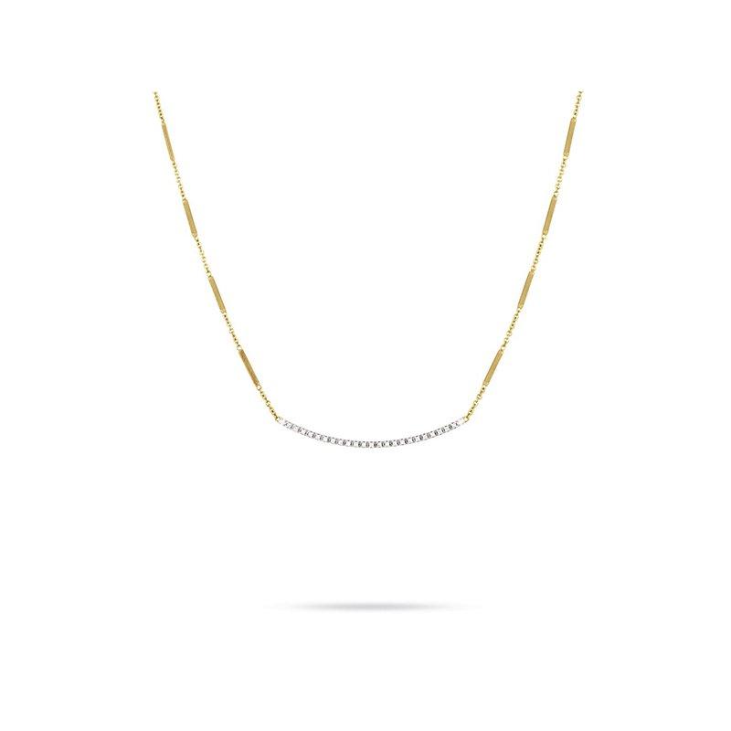 Marco Bicego Goa Diamond Bar Necklace