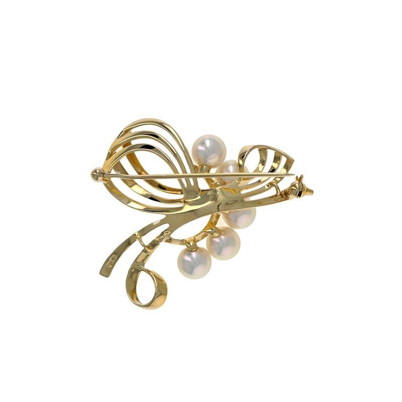 Estate Mikimoto Flower Bouquet Pearl Pin