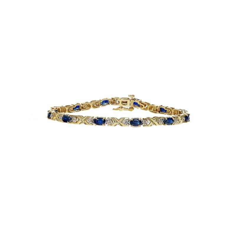 Estate Radcliffe Blue Sapphire & Diamond Tennis Bracelet