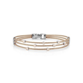 Carnation Cable Triple Strand Bracelet