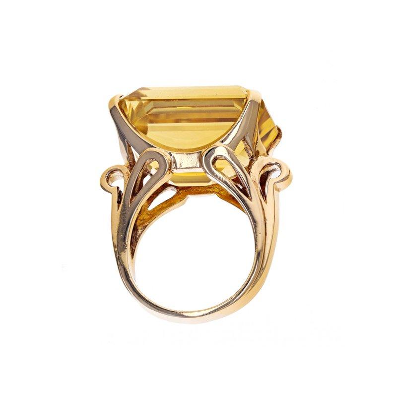 Estate Radcliffe Emerald Cut Citrine Ring