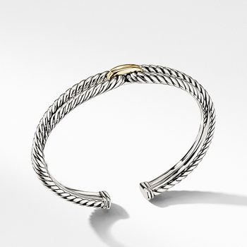Cable Loop Bracelet with 18K Gold