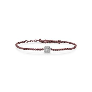 Burgundy Chain Expressions Bracelet
