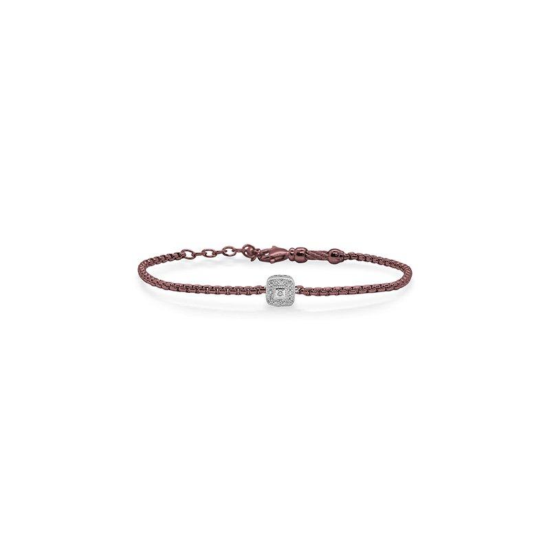 ALOR Burgundy Chain Expressions Bracelet