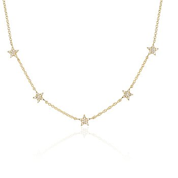 Diamond 5 Mini Star Necklace