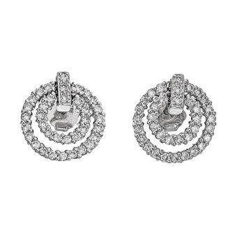 Diamond Door Knocker Earrings