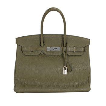 35cm Vert Veronese Birkin Bag