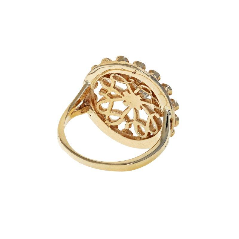 Estate Radcliffe Pearl, Sapphire, & Diamond Circle Ring