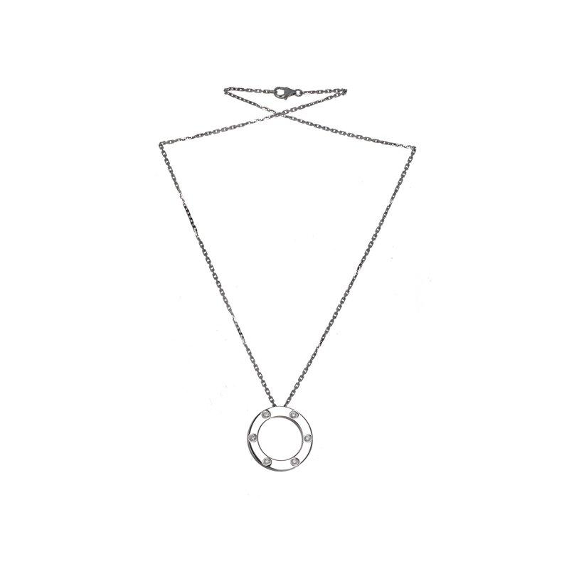 Estate Cartier 6 Diamond Love Necklace