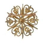 Estate Radcliffe Opal Heart Starburst Pin