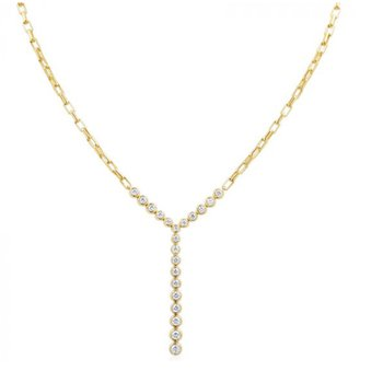 Moonlight Diamond Stiletto Necklace