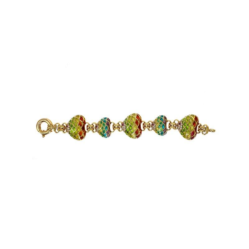Estate Radcliffe Plique-A-Jour Enamel Bracelet