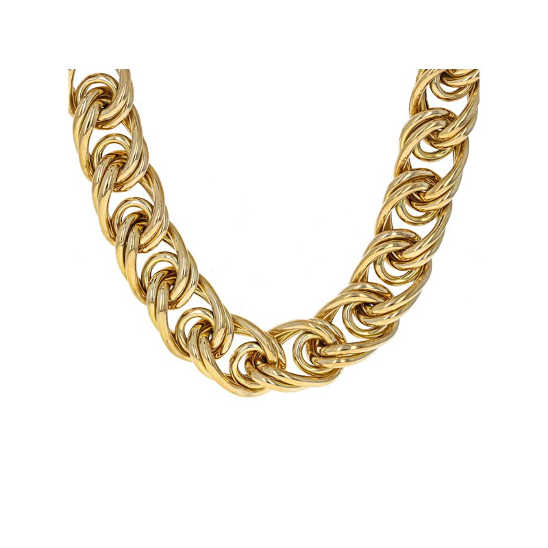 Estate Radcliffe Double Link Chain Necklace
