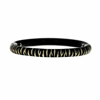 Zebra Print Enamel Bracelet