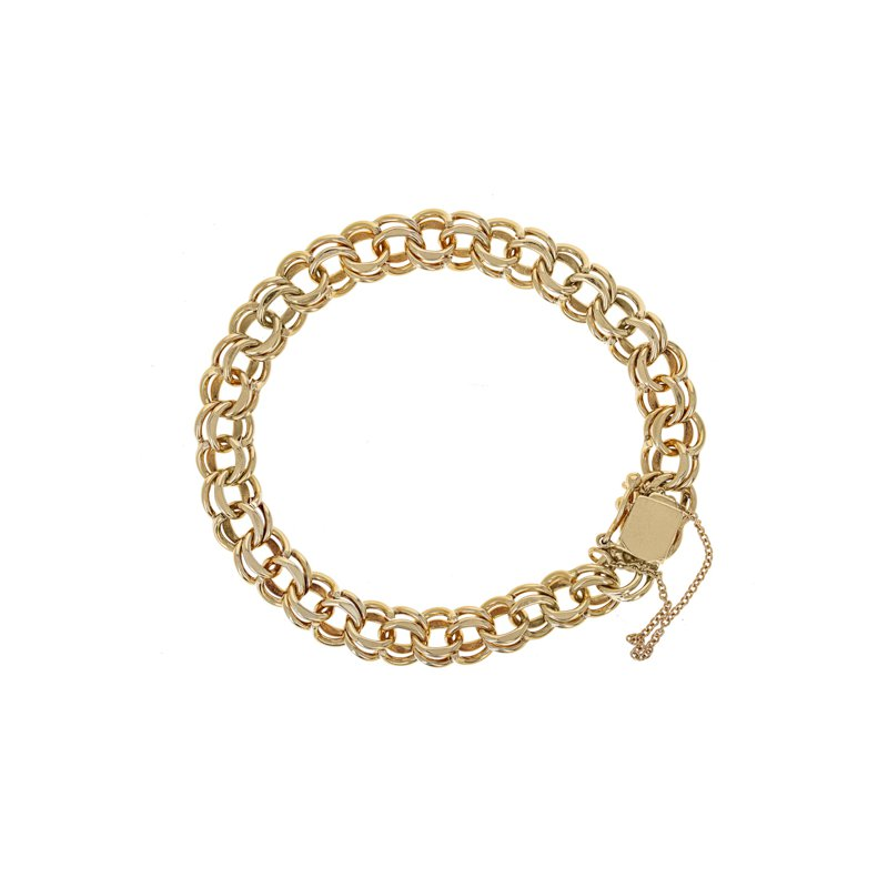 Estate Radcliffe Double Link Charm Bracelet