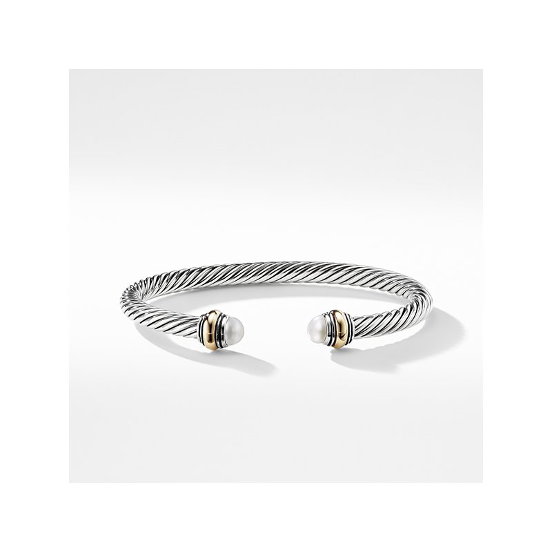 David Yurman Cable Classic Bracelet with Pearl and 14K Gold