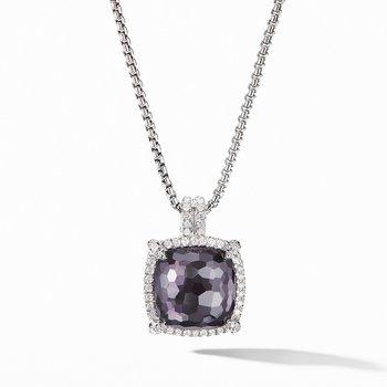 Chatelaine Pav?ezel Pendant Necklace with Black Orchid