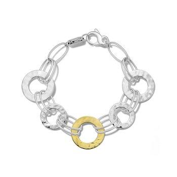 Chimera Crinkle Hammered Disc Bracelet