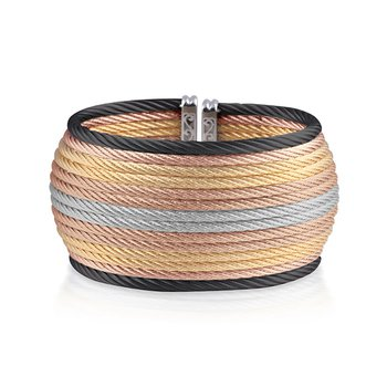 Multi-Colored Cable Oversized Cuff