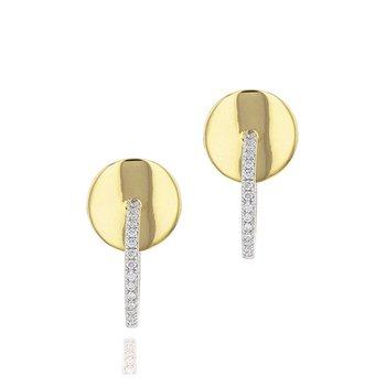 Mini Plate Loop Earrings