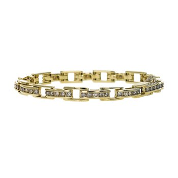 Diamond Bar Link Tennis Bracelet