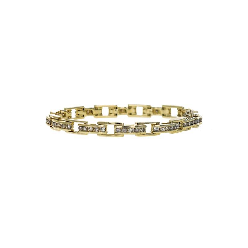 Estate Radcliffe Diamond Bar Link Tennis Bracelet