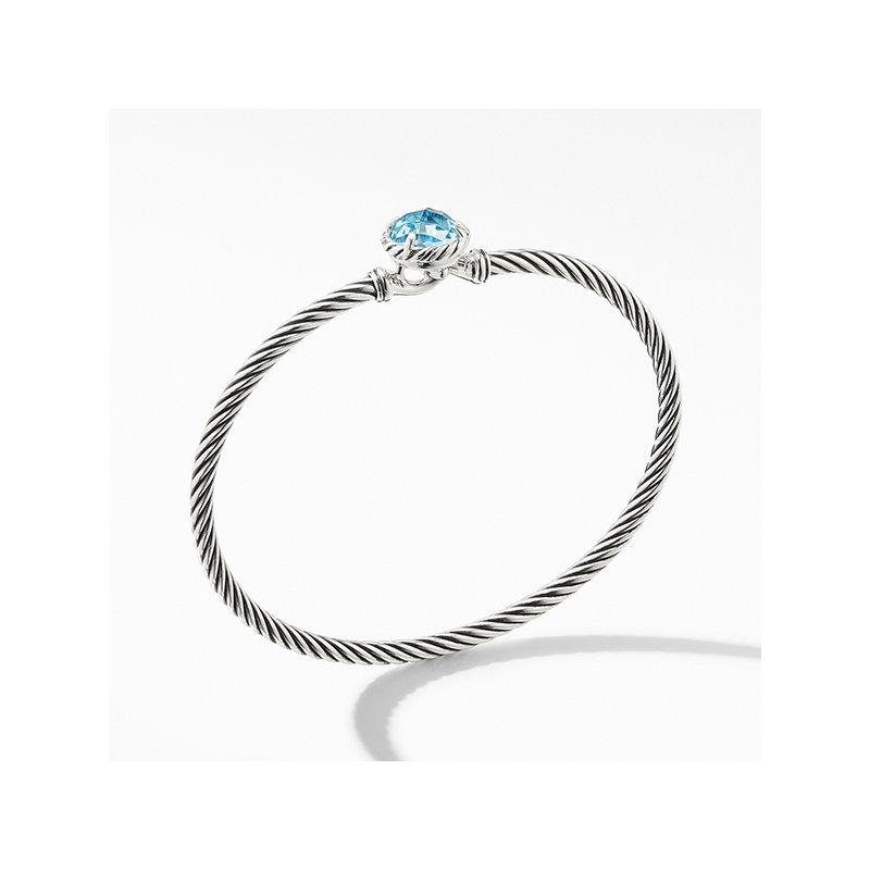David Yurman Chatelaine Bracelet with Blue Topaz