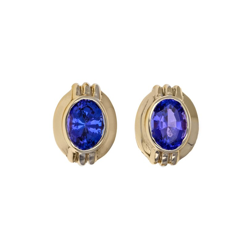 Estate Radcliffe Tanzanite Stud Earrings