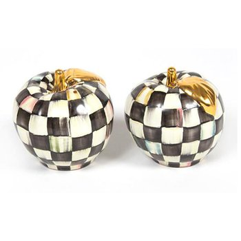 Courtly Check Salt & Pepper Shakers, Apple