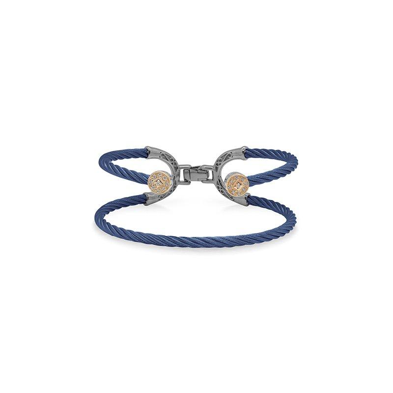 ALOR Blueberry Cable Balance Bracelet