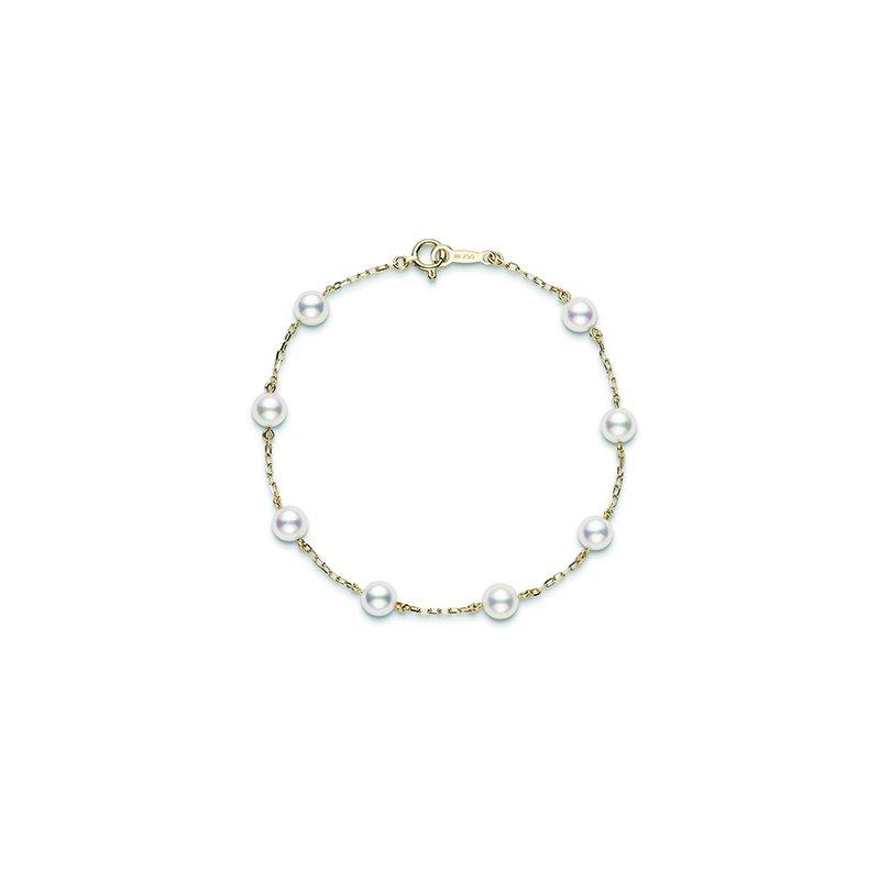 Mikimoto Akoya Pearl 'Tincup' Bracelet