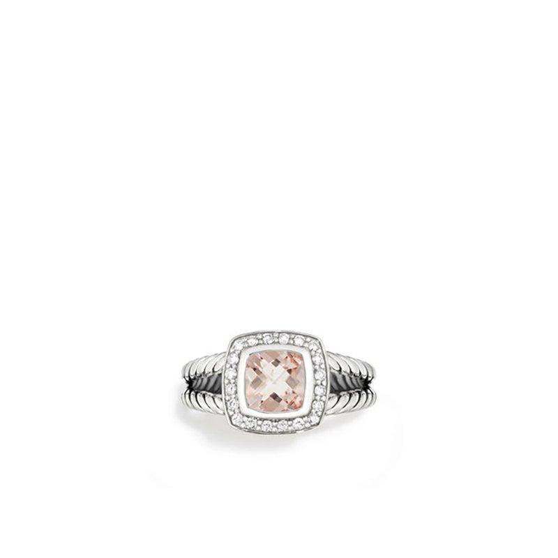 David Yurman Petite Albion Ring with Morganite and Diamonds