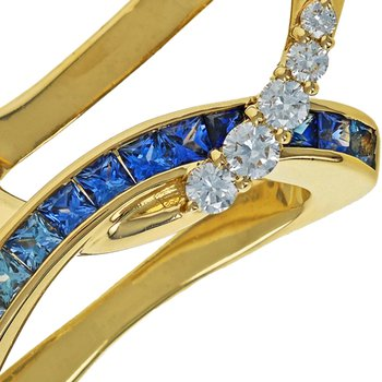 Sapphire & Diamond Slide Pendant