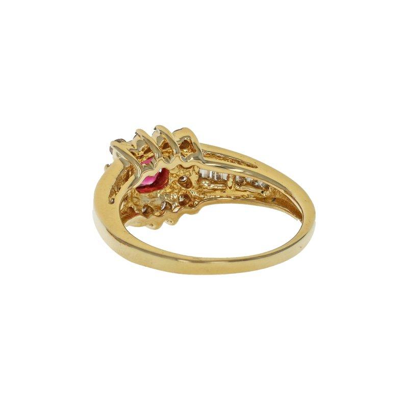 Estate Radcliffe Diamond Halo & Tourmaline Ring