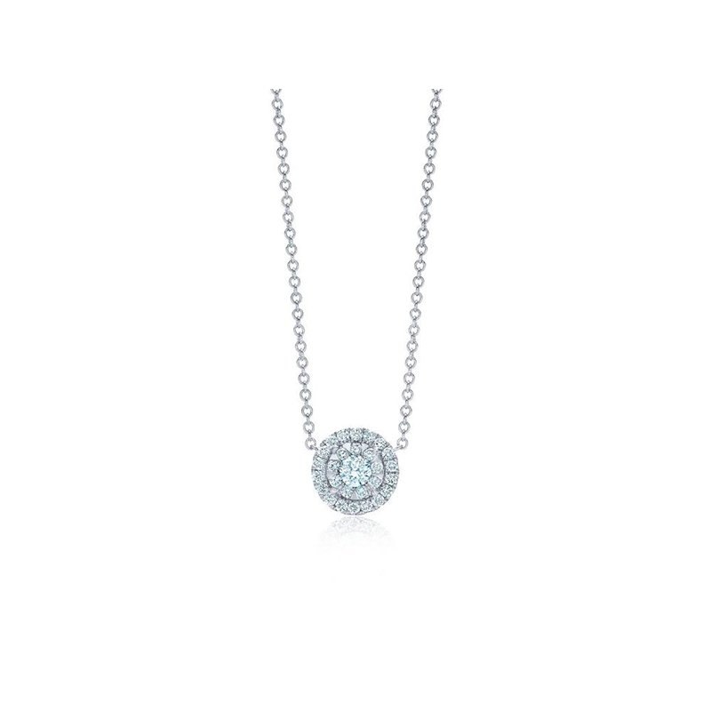 Kwiat Sunburst Pendant with Diamond Halo