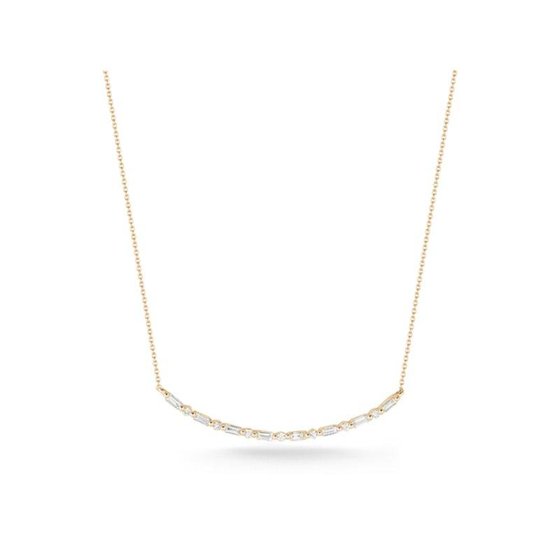 Dana Rebecca Designs Sadie Pearl Baguette Long Bar Necklace