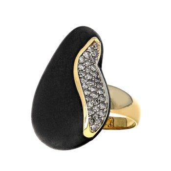 Capri Plus Diamond & Ebony Ring