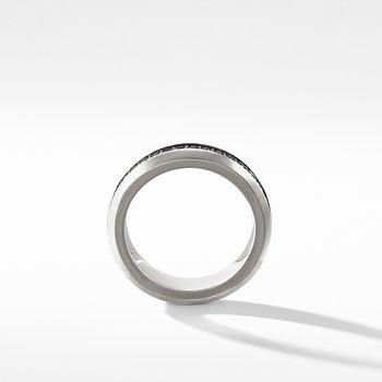 Streamline Band Ring with Black Diamonds