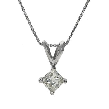 Princess Cut Diamond Necklace