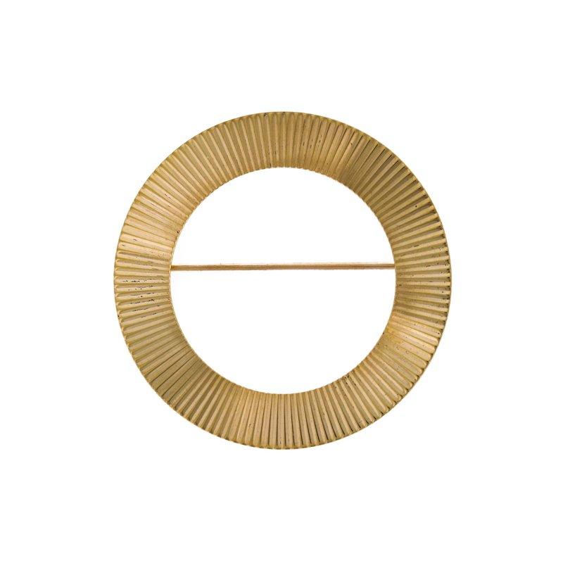 Estate Tiffany & Co. Circle Fluted Brooch