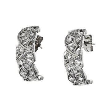 Half Hoop Diamond Earrings