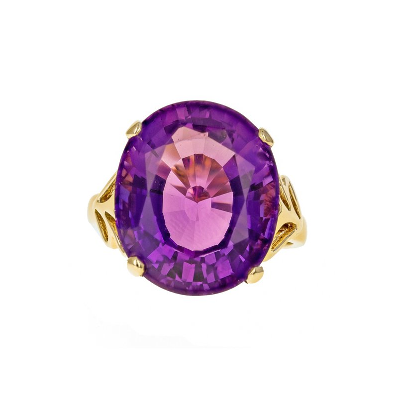 Estate Radcliffe Amethyst Solitaire Ring