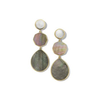 Polished Rock Candy Crazy 8's 3-Stone Drop Earrings