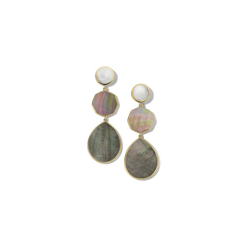 Ippolita Polished Rock Candy Crazy 8's 3-Stone Drop Earrings